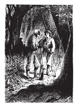recognized: You recognized reddening, vintage engraved illustration.