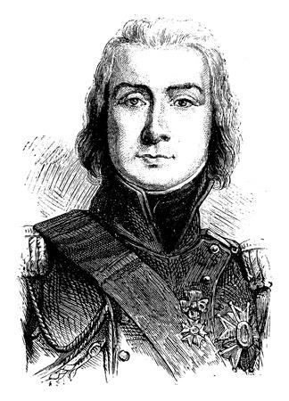 the marshal: Bessieres, vintage engraved illustration. History of France – 1885.