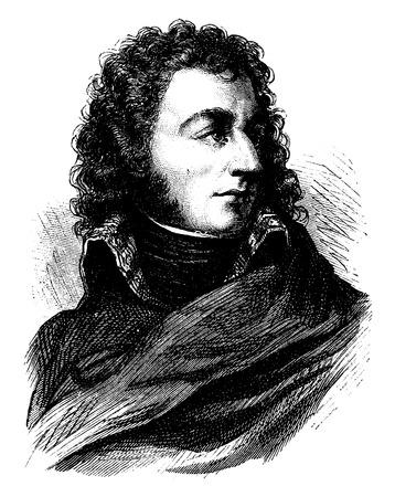 Bernadotte, vintage engraved illustration. History of France – 1885.