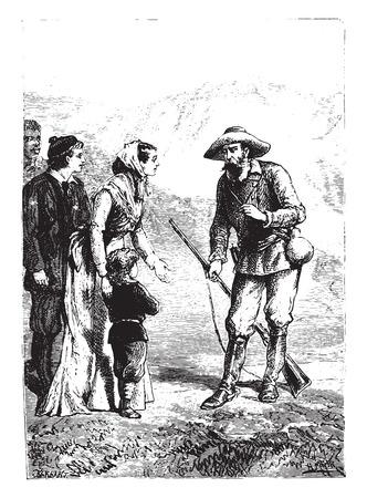 очаровательный: Очаровательный маленький мальчик! сказал американец, старинные гравированные иллюстрации. Иллюстрация