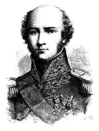 Davout, vintage engraved illustration. History of France – 1885. Stock Vector - 41713339