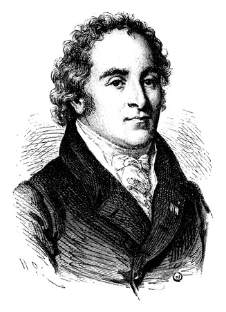 statesman: Maret, Duke of Bassano, vintage engraved illustration. History of France – 1885.