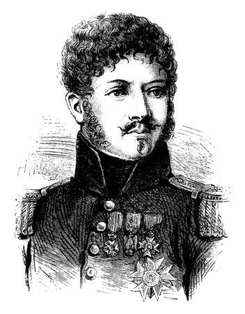 representations: Montbrun, vintage engraved illustration. History of France – 1885..