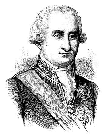 Carlo IV, vintage illustrazione inciso. Storia della Francia - 1885. Archivio Fotografico - 41713413