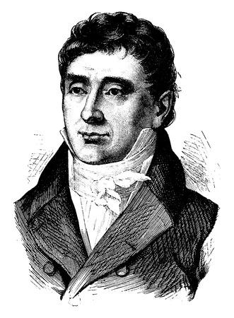 statesman: Royer-Collard, vintage engraved illustration. History of France – 1885.