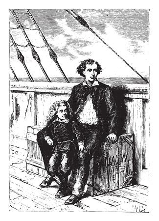 Dick and Jack were almost always together, vintage engraved illustration.