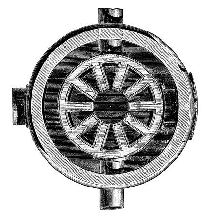 boiler: Map of the boiler, vintage engraved illustration. Industrial encyclopedia E.-O. Lami - 1875.