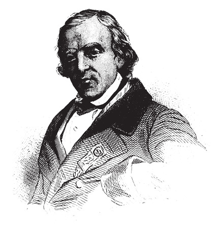 representative: Francois-Vincent Raspail, Representative to the constituent, vintage engraved illustration.