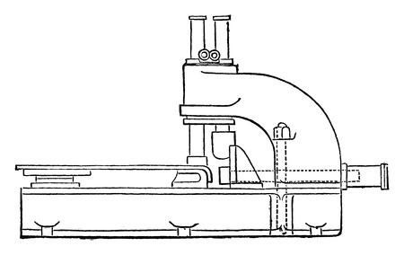 pistones: Corte estampado representados tres pistones, cosecha ilustraci�n grabada. E.-O. enciclopedia Industrial Lami - 1875.