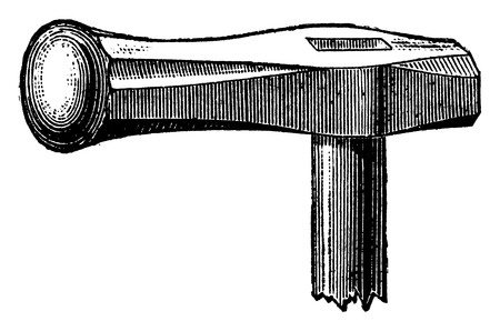 stamping: Hammer stamping, vintage engraved illustration. Industrial encyclopedia E.-O. Lami - 1875.
