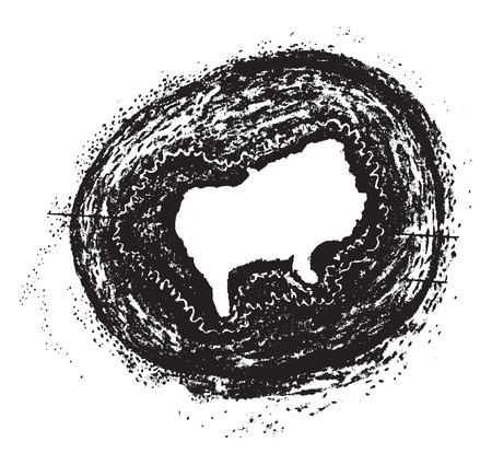Obliterative endarteritis, vintage engraved illustration.