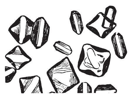 magnesium: Magnesium phosphate, vintage engraved illustration. Illustration