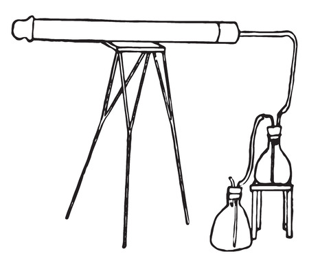 sterilization: Aeroscope, vintage engraved illustration.