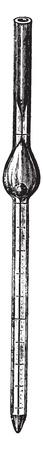 capillary: Capillary mixing tube of the Thoma-Zeiss apparatus, vintage engraved illustration. Illustration