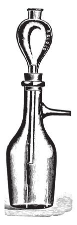 Filter, vintage engraved illustration. Vettoriali