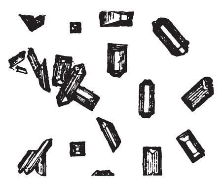 Magnesium ammonium phosphate, vintage engraved illustration. Illustration