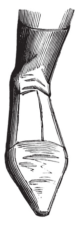 Half boot woman (1808), vintage engraved illustration. Industrial encyclopedia E.-O. Lami - 1875.
