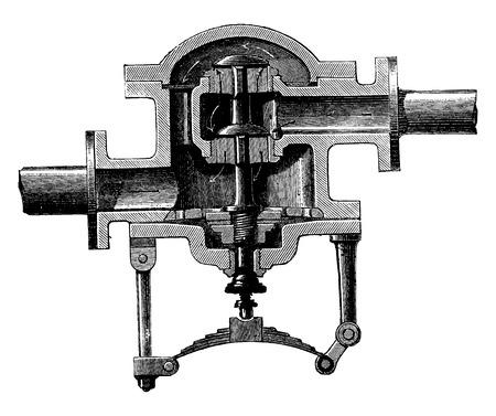 the encyclopedia: Regulator spring, vintage engraved illustration. Industrial encyclopedia E.-O. Lami - 1875. Illustration