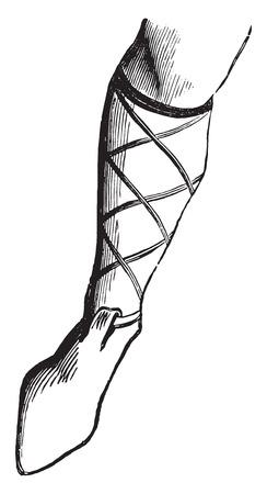 nobleman: Scarpa un nobile nel secolo VIII, vintage illustrazione inciso. Enciclopedia Industrial E.-O. Lami - 1875.
