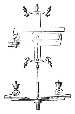 chronometer: Chronometer balance correcting the error extreme temperatures, vintage engraved illustration. Industrial encyclopedia E.-O. Lami - 1875.