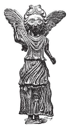 sixth: Bronze sixth century, vintage engraved illustration. Industrial encyclopedia E.-O. Lami - 1875.