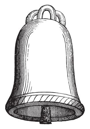 ninth: Tintinnabulum, ninth century, vintage engraved illustration. Industrial encyclopedia E.-O. Lami - 1875.
