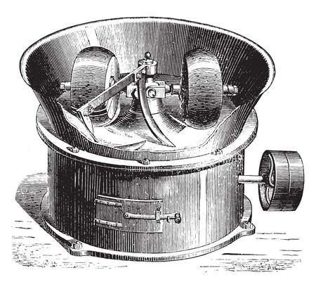 loose: Loose gravel mixer, vintage engraved illustration. Industrial encyclopedia E.-O. Lami - 1875. Illustration
