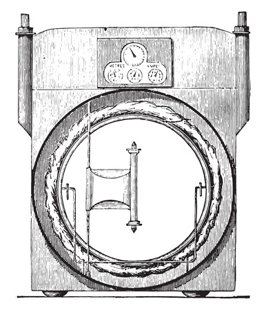 metal industry: Sec meter, invariable measure, vintage engraved illustration. Industrial encyclopedia E.-O. Lami - 1875.