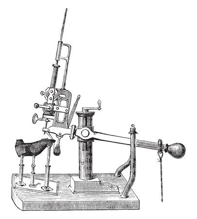 machines: Screw machines, vintage engraved illustration. Industrial encyclopedia E.-O. Lami - 1875.