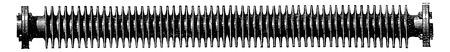 black history: Heating tube to multiple surfaces, vintage engraved illustration. Industrial encyclopedia E.-O. Lami - 1875. Illustration