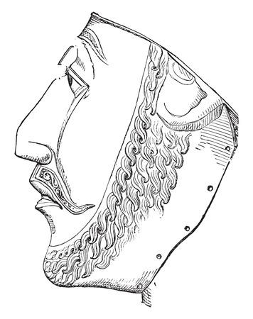 famous people: Head of St. Candide, vintage engraved illustration. Industrial encyclopedia E.-O. Lami - 1875. Illustration