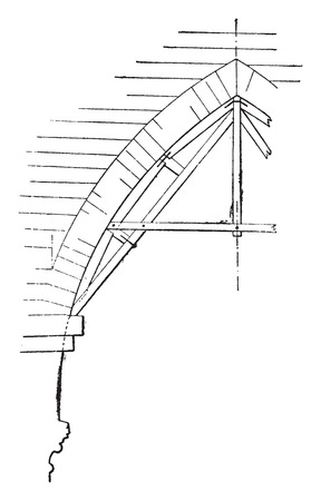 Hanger pointed arch, vintage engraved illustration. Industrial encyclopedia E.-O. Lami - 1875.