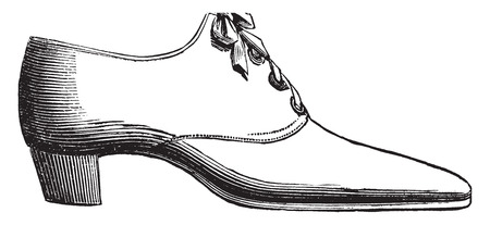 Shoe lace, vintage engraved illustration. Industrial encyclopedia E.-O. Lami - 1875. Иллюстрация