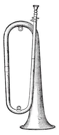 Clarion, vintage engraved illustration. Industrial encyclopedia E.-O. Lami - 1875.
