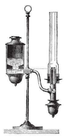 constant: Constant lamp, vintage engraved illustration. Industrial encyclopedia E.-O. Lami - 1875.