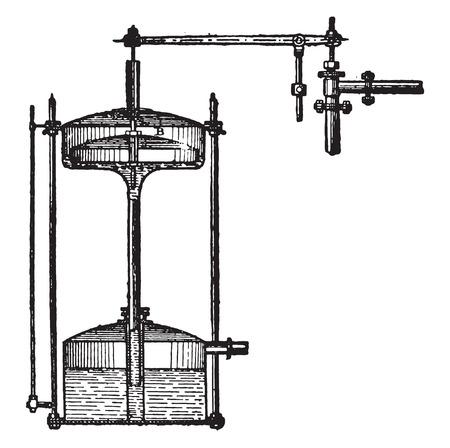 details: Details of the regulator, vintage engraved illustration. Industrial encyclopedia E.-O. Lami - 1875. Illustration