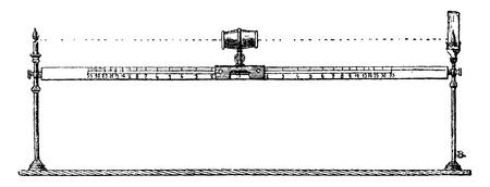 Type of Bunsen photometer, vintage engraved illustration. Industrial encyclopedia E.-O. Lami - 1875. Ilustração
