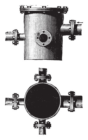 cast iron: Cast iron sharing room, vintage engraved illustration. Industrial encyclopedia E.-O. Lami - 1875.