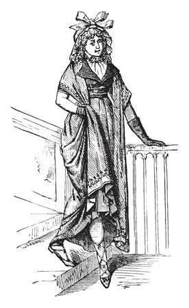 marvelous: Kind of a marvelous 1798, vintage engraved illustration. Industrial encyclopedia E.-O. Lami - 1875. Illustration