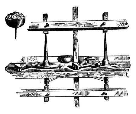 Diamond polishing, vintage engraved illustration. Industrial encyclopedia E.-O. Lami - 1875. Иллюстрация