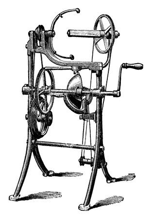 Flattering for strings, vintage engraved illustration. Industrial encyclopedia E.-O. Lami - 1875.