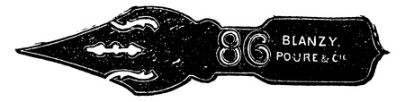 stamping: Pen after the brand and stamping, vintage engraved illustration. Industrial encyclopedia E.-O. Lami - 1875.