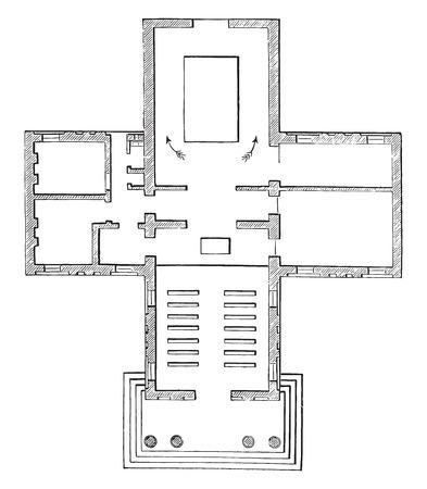 crematorium: Map crematorium woking, vintage engraved illustration. Industrial encyclopedia E.-O. Lami - 1875. Illustration