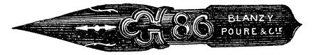 Pen after the form, vintage engraved illustration. Industrial encyclopedia E.-O. Lami - 1875.