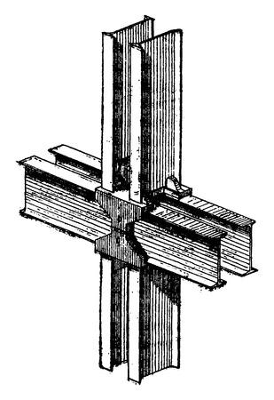 objects: Iron frame, vintage engraved illustration. Industrial encyclopedia E.-O. Lami - 1875.