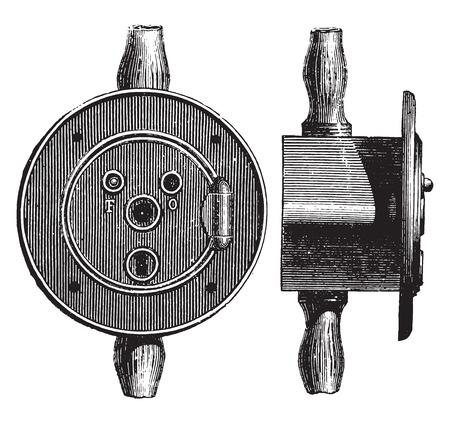 catch: Stop cock catch, vintage engraved illustration. Industrial encyclopedia E.-O. Lami - 1875. Illustration