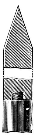 Lightning rod, vintage engraved illustration. Industrial encyclopedia E.-O. Lami - 1875. Иллюстрация