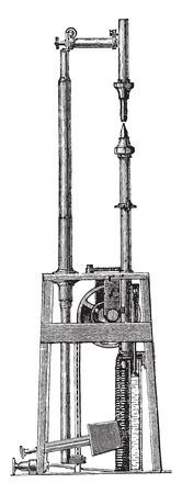 arc: Arc lamp, Jaspar, vintage engraved illustration. Industrial encyclopedia E.-O. Lami - 1875.