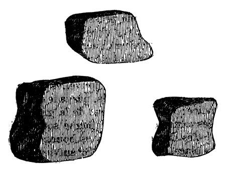 clump: Coarse powders, vintage engraved illustration. Industrial encyclopedia E.-O. Lami - 1875.