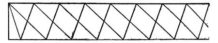 Type Post, vintage engraved illustration. Industrial encyclopedia E.-O. Lami - 1875.